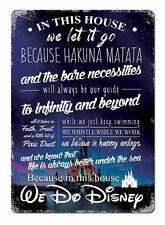 WTF | In this house we do Disney V2 Photo | Metal Wall Sign Plaque Art D2P