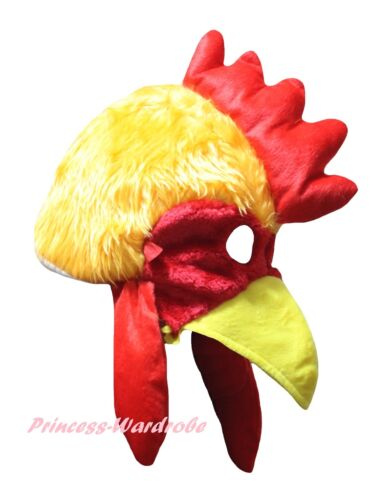 Yellow Brown Cock Rooster Chicken Cosplay School Party Costume Warm Hat Headgear