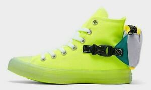 Details about NIB - CONVERSE Unisex CTAS 'BUCKLE UP' Neon Green HIGH TOP SHOES - M 12 / W 14