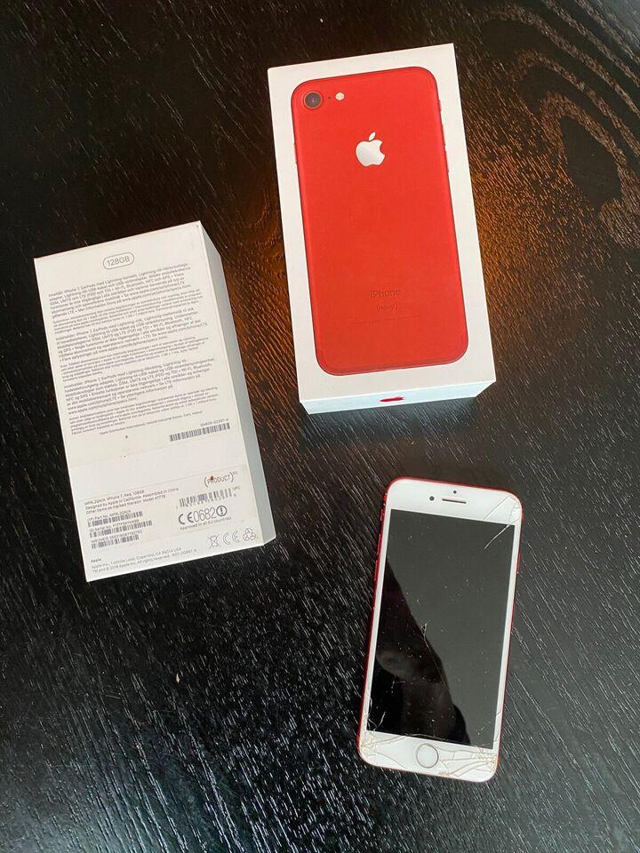 iPhone 7, 128 GB, rød