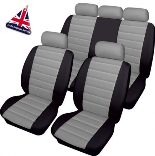 Luxury GREY//BLACK Leather Look Car Seat Covers Full Set Isuzu Rodeo