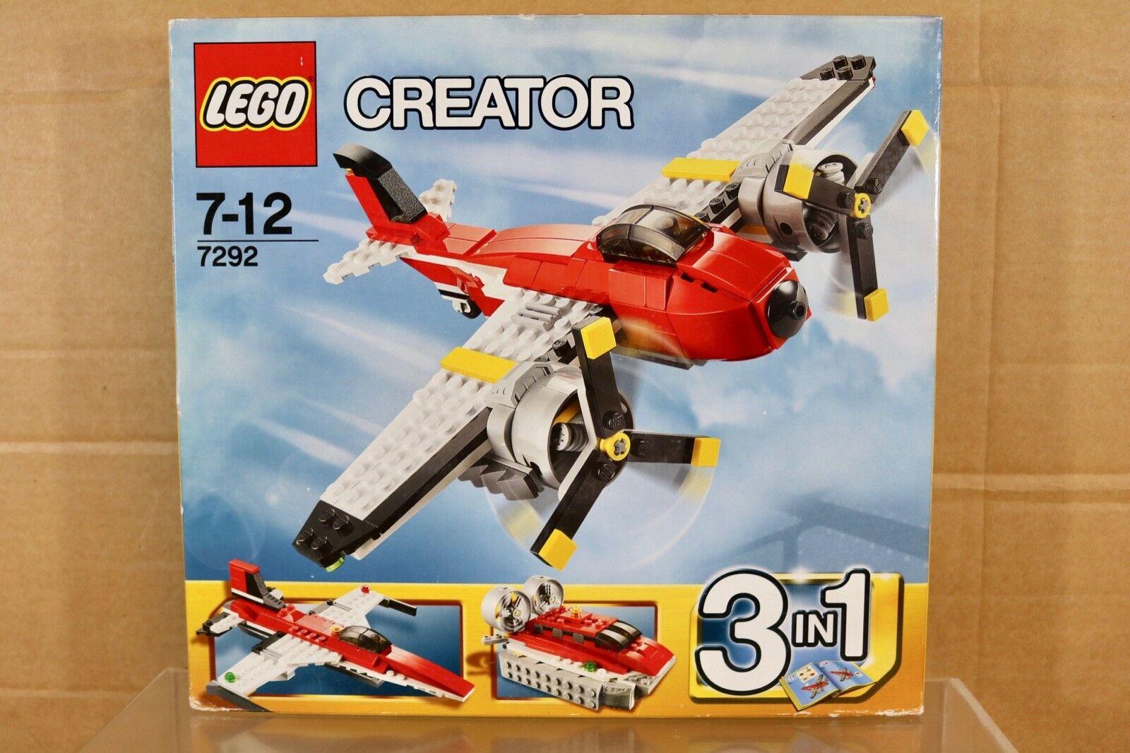 Lego 7292 Kreator Propeller Abenteuer Flugzeug & Hovercraft Set Verpackt Nr