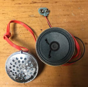 Vintage Texaco Fire Chief Hat Helmet amplifier and microphone replacement part