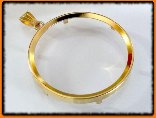 Münzfassung Silber 925 vergoldet Innendurchmesser 13,2 bis 28,1 mm • Auswahl