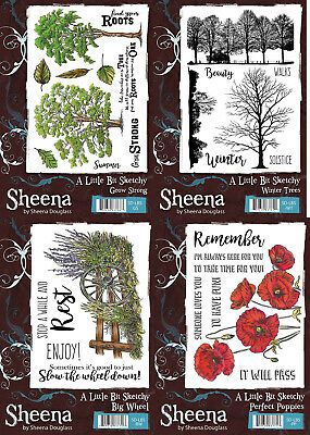 Sheena Douglass - A Little Bit Sketchy Collection - A5 or A6 Stamps | eBay
