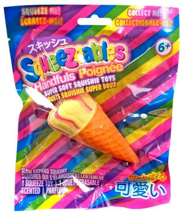 Squeezeables Squshies Scented Squeeze Toy Vanilla Ice Cream Cone