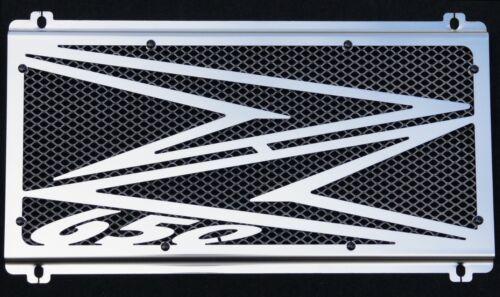 cache / Grille de radiateur inox Kawasaki Z650 201718 Logo + grillage alu