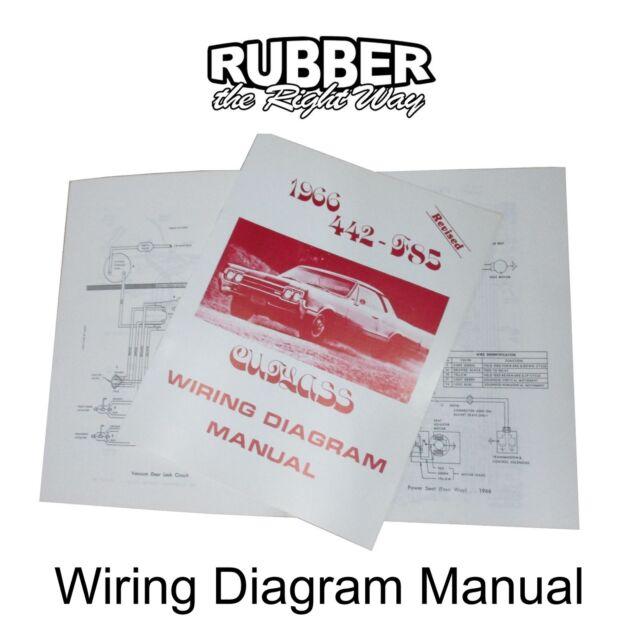 1966 Oldsmobile Wiring Diagram Manual Ebay