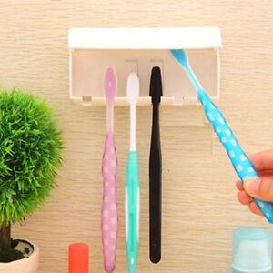 Cartoon 5 Set Toothbrush Spinbrush Wall Mount Suction Holder Stand Rack Bathroom
