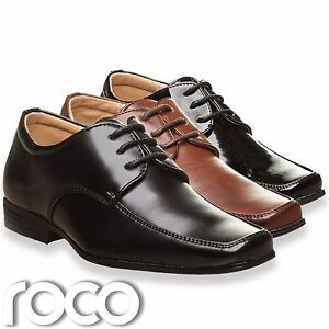c0ca80da1e83ad Image is loading Boys-Black-Shoes-Boys-Brown-Shoes-Prom-Shoes-