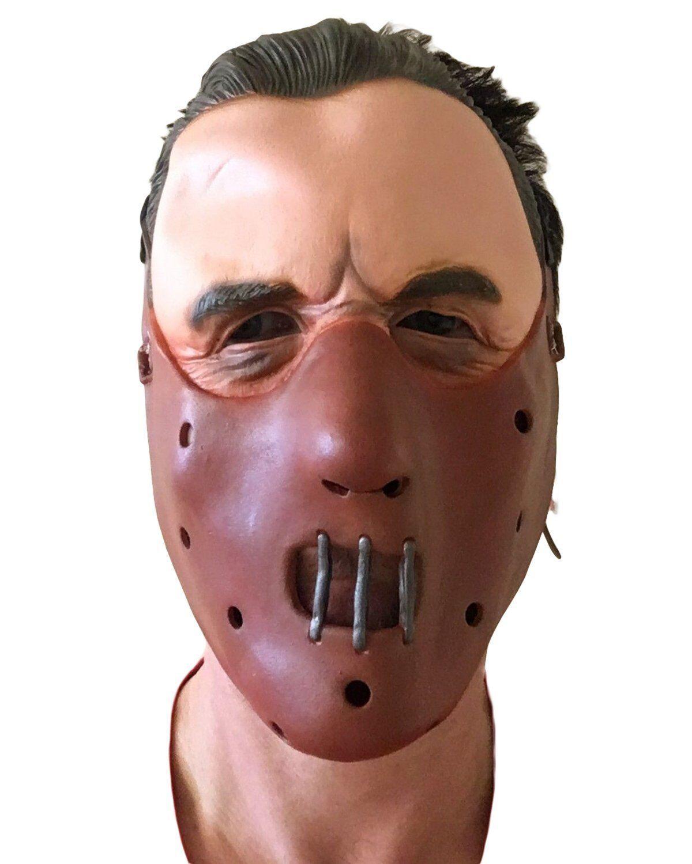 Hannibal Silence Latex Mask Halloween Lector Lambs Face Muzzle Costume Accessory