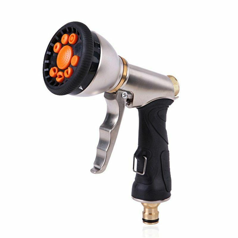 Water Spray Gun Sprinkler Metal Outdoor Car Wash Cleaning Hand Tool Accessories