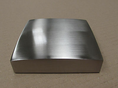 Metal Brushed Nickel Newel Post Caps rebate to fit 90mm Posts Full or Half