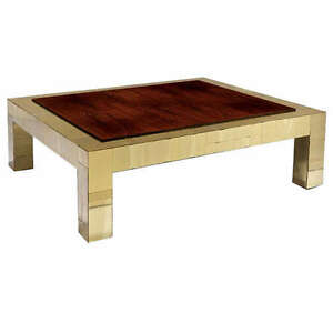 Image Is Loading Brass And Rosewood Cityscape Coffee Table Paul Evans