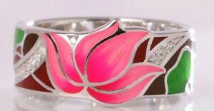 Exquisite-Floral-Enamel-Ring-925
