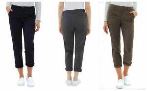 Jones-New-York-Women-039-s-The-Chino-Pants-Gray-Navy-Olive-4-6-8-10-12-14