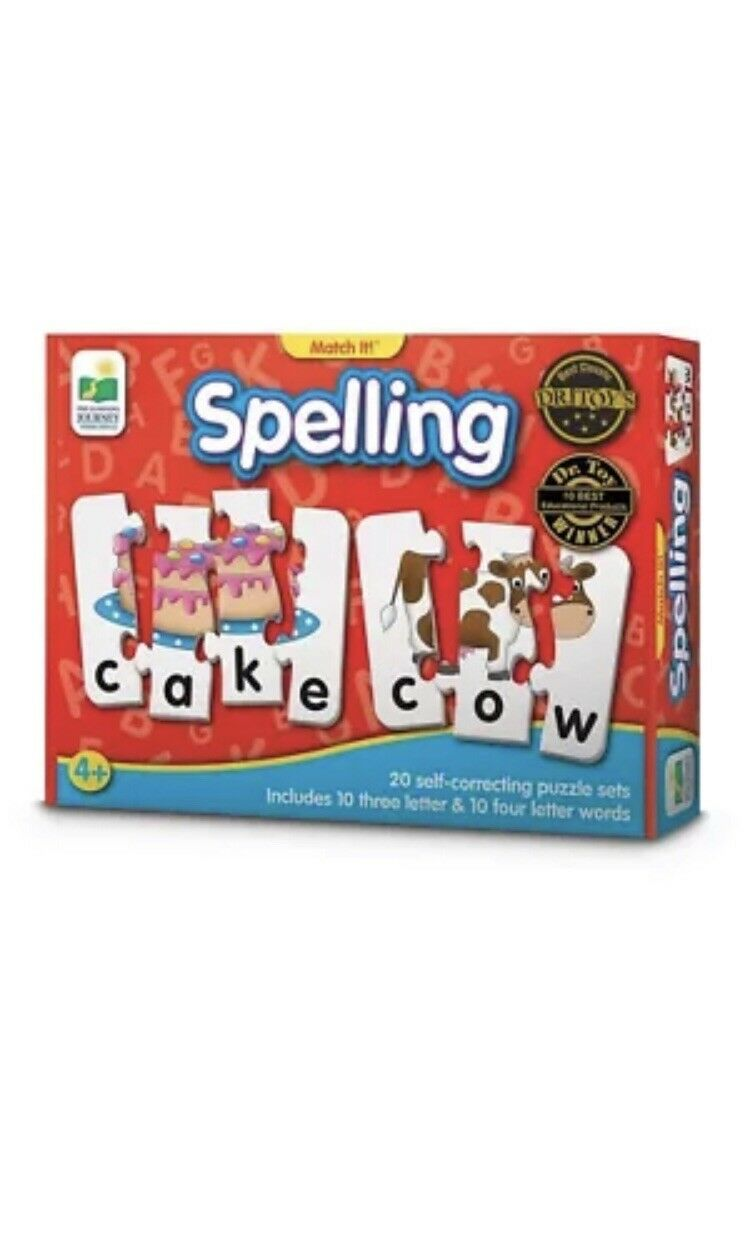 The Learning Journey  Match It  - Spelling - 20 Self-Correcting Spelling JL