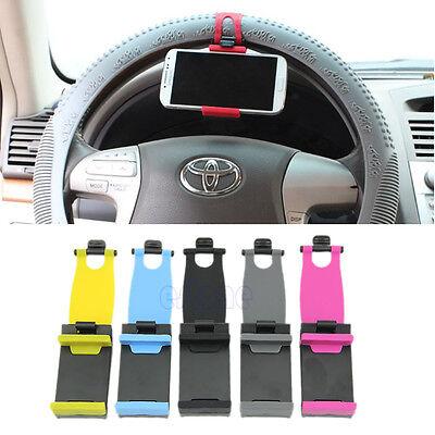 For iphone Phone Samsung GPS Universal Car Steering Wheel Bike Clip Mount Holder