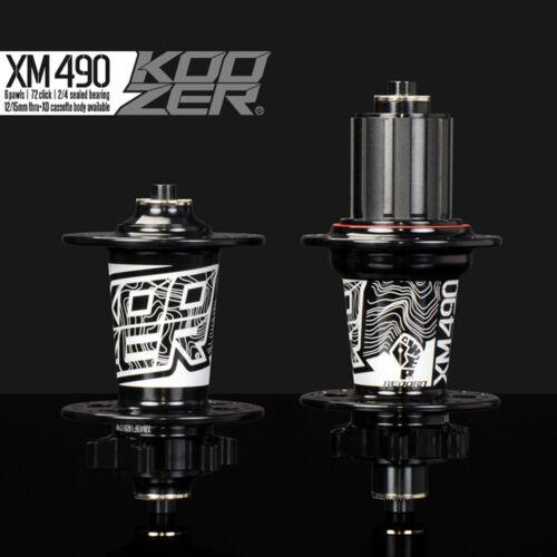 KOOZER MTB disc brake Front//Rear hub XM490 CNC Aluminum for Shimano Sram 8-11s