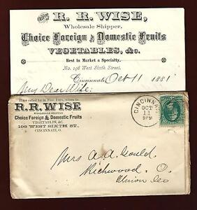 Details about PH 15 Bank Note 3 cents Numeral 4 cover & 2 Letters Adv   R R Wise Fruits Cinn O