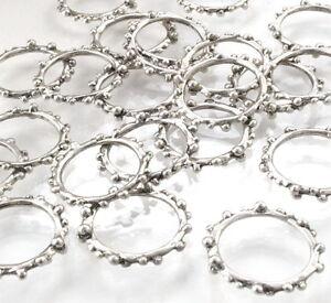 BC13-Ringe-Binderinge-20mm-Silber-Verbindungsringe-Anhaenger-10x-Perlen-Verbinder