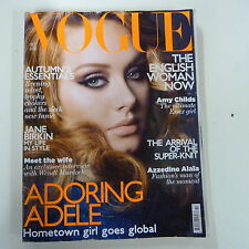 Vogue UK Ocotober 2011 Adele Adkins