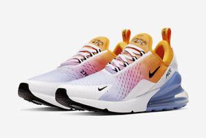 Details about Nike Men's Air Max 270 University Gold Black Blue Rainbow AH8050 702