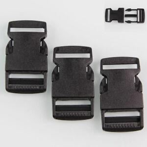 10x Plastic Side Quick Release Buckle Backpack Bag Strap Webbing Fastener 25mm