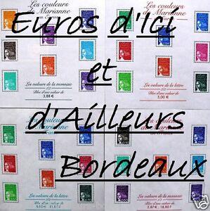 Lot-de-4-blocs-France-neufs-Les-couleurs-de-Marianne-Neuf
