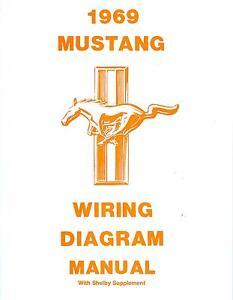 1969 69 mustang mach 1 wiring diagram manual ebay rh ebay com  1969 ford mustang mach 1 wiring diagram