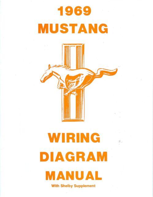 1969 69 Mustang  Mach 1 Wiring Diagram Manual