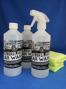 WATERLESS-CAR-WASH-WAX-JUST-SPRAY-WIPE-SHINE-KIT
