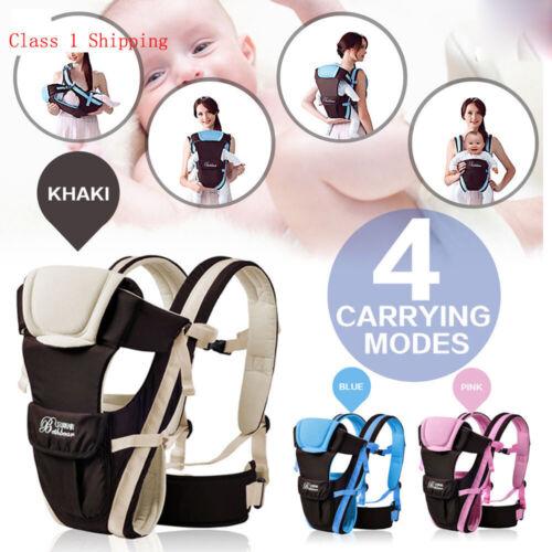 Baby Kid Tragetasche Bauchtrage 4 Tragpositionen Babytragetuch Kinder Tragegurt