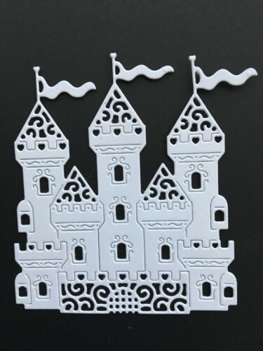 12 X White Castle Die Cuts Fantasy//Fairy card topper
