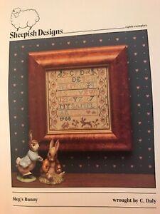 Sheepish-Designs-meg-s-Bunny-Counted-Cross-Stitch-Pattern-OOP-C-Daly-Rabbit