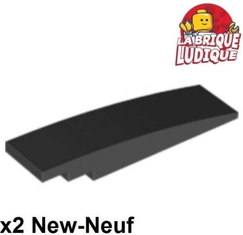 2x Slope curved pente courbe 8x2 noir//black 42918 NEUF Lego