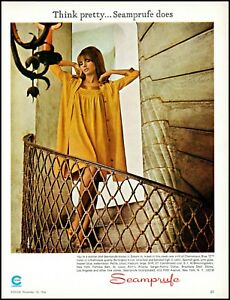 1966-Pretty-Woman-in-Seamprufe-Burlington-tricot-vintage-photo-Print-Ad-adL16