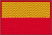 Bogota Colombia Flag Iron On Patch South America Emblem Red Border
