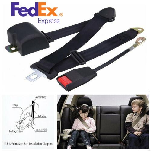 Universal Adjustable Polyester Car 3-Point Seat Belt Extension Strap Safety Kit