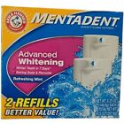 Mentadent Advanced Whitening Anticavity Fluoride Toothpaste, Refreshing Mint - 2