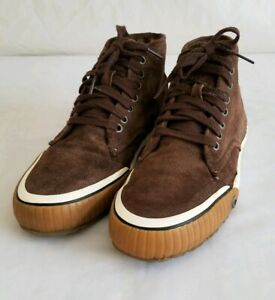 1f247847a169 Details about Diesel Trackay Brown Suede Leather Hightop Sneakers Shoes  Men's Size 9.5 Nice