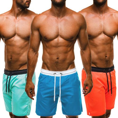 Badeshorts Herren Schwimm Kurze Hosen Jogging Training Badehose Sport OZONEE