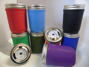 CURING-JARS-HUMIDITY-GLASS-MANSON-JAR-14G-240ML-UV-HYGROMETER-ANALOG-STORAGE-JAR