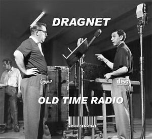 DRAGNET - OLD TIME RADIO - 4 CD-ROM - 372 mp3 Total Pla