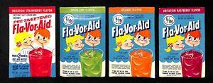 Original-1960-039-s-FLA-VOR-AID-Drink-Mix-packs-4-Flavors-UNOPENED-packets