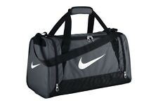 Nike Brasilia Duffel Bag Training Sports Holdall gym Bag Small Grey BA4831-074