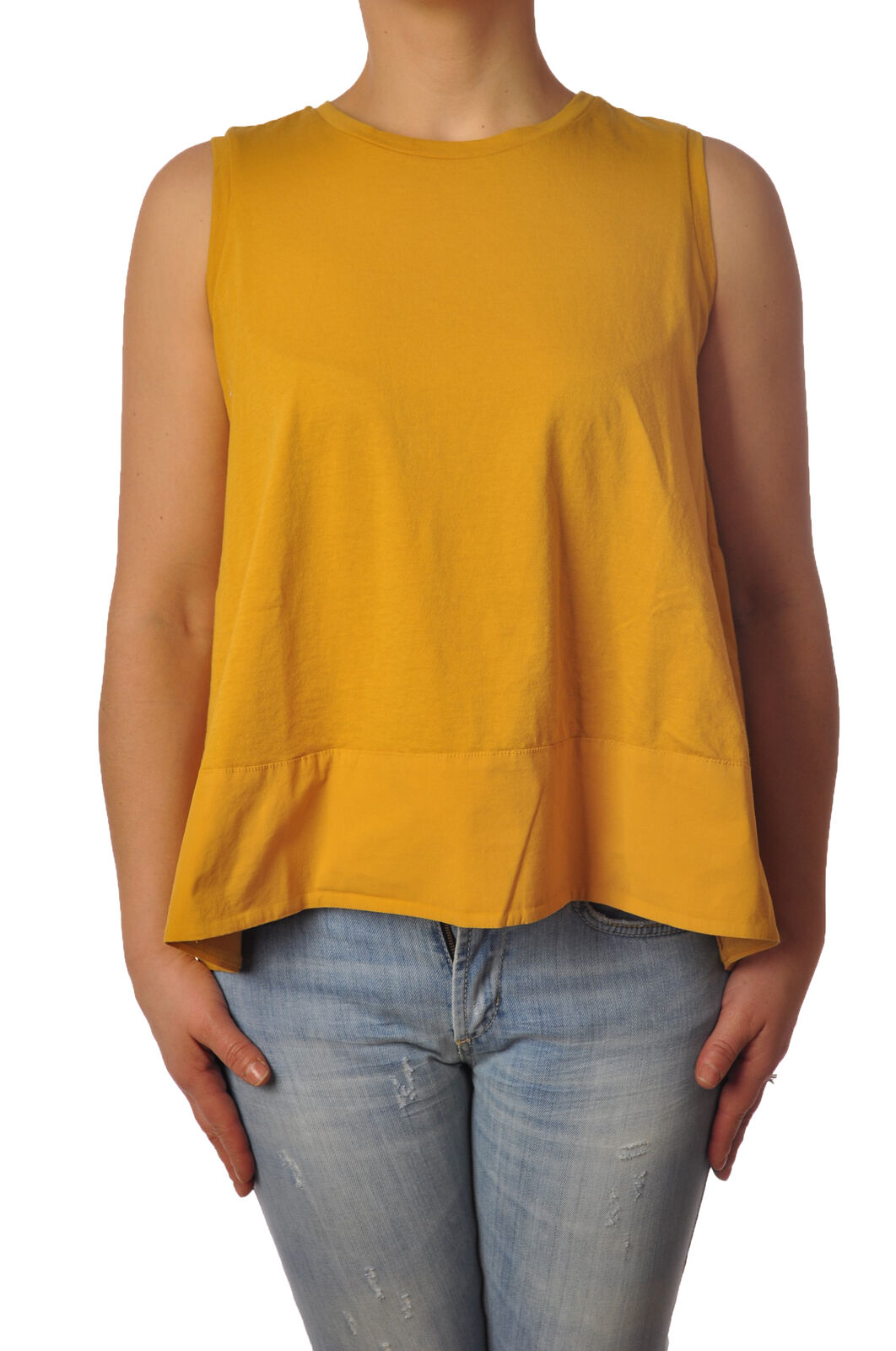 Ottod'ame - Topwear-Sleeveless Top - Woman - Yellow - 4942526E184001