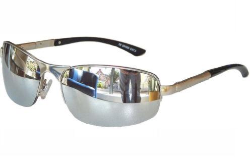 Matrice Occhiali da Sole Biker OCCHIALI COOL OCCHIALI CROMO ARGENTO FLEX STAFFA M 26