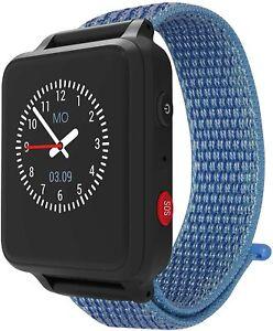 Anio 5 - Blau / Schwarz - Kinder Smartwatch GPS Uhr