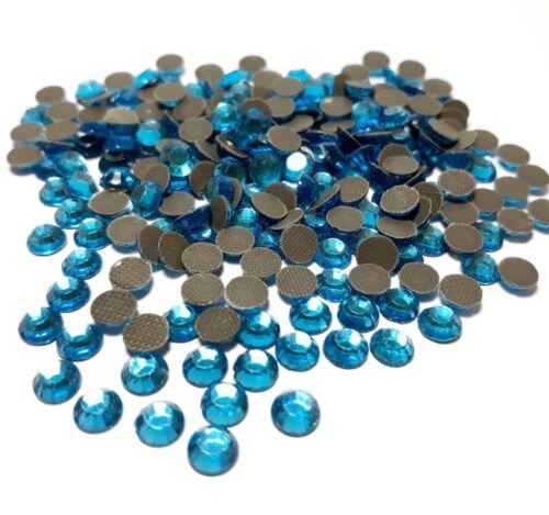 185 Hotfix Strasssteine 5mm SS20 Aquamarine Blau Glas Strass Bügelsteine 80